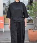 ESTROISLOSE プレミアム天竺タートル7分袖Tシャツ(ブラック)