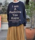 thomas magpie pullover sweat  プルオーバースウェット I am A Medicine You Know(ネイビー)