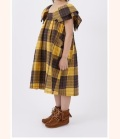 NEEDLE WORKS Check One-piece  チェックワンピース イエロー(90~150センチ)