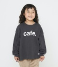 FOV Cafe ビッグ L/S Tシャツ チャコールグレー(80~170センチ)