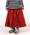 ~SALE~ Mein Heim 8分丈ギャザースカートパンツ レッド(120~140センチ)