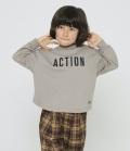 GENERATOR ACTION L/S Tシャツ アッシュグレー(90~160センチ)