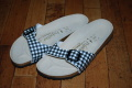 〜SALE〜 BIRKENSTOCK Madrid(マドリッド) ビルコフロー/Gingham Black(36EU)