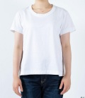 【定番】DEEP BLUE  ソフトタッチ天竺リラックスTシャツ(オフホワイト)