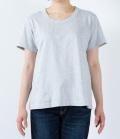 【定番】DEEP BLUE  ソフトタッチ天竺リラックスTシャツ(オートミール)