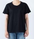 【定番】DEEP BLUE  ソフトタッチ天竺リラックスTシャツ(ブラック)