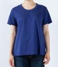 【定番】DEEP BLUE  ソフトタッチ天竺リラックスTシャツ(ブルー)