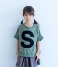 6°vocaLe キャピタルレターTシャツ ミリタリー(90~150センチ)