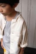 ~SALE~ FABRIQ REPORT フリンジミリタリーシャツ キナリ(120~130センチ)