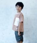 ~SALE~ 6°vocaLe リネアポケットTシャツ キャメル(90、120~140センチ)