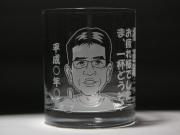 A-1.ロックグラス(似顔絵1名様用)