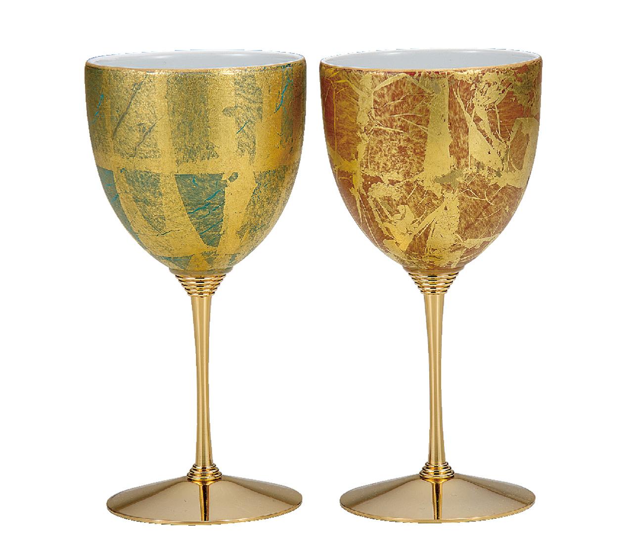 ペアワインカップ 金箔彩