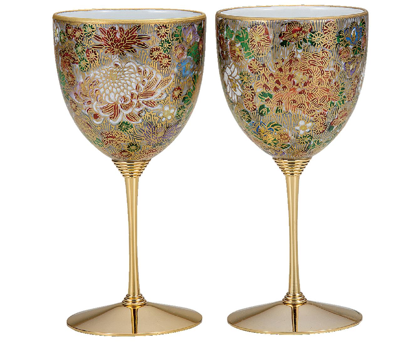 ペアワインカップ 金花詰