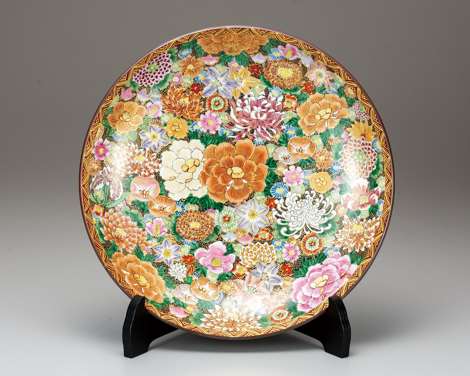 飾皿(12号) 本金花詰 [ 小酒洸仙 ]6-1374
