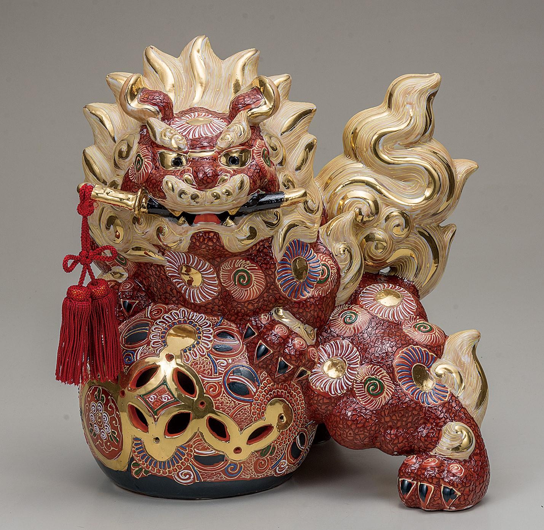 九谷焼 12号剣獅子 盛