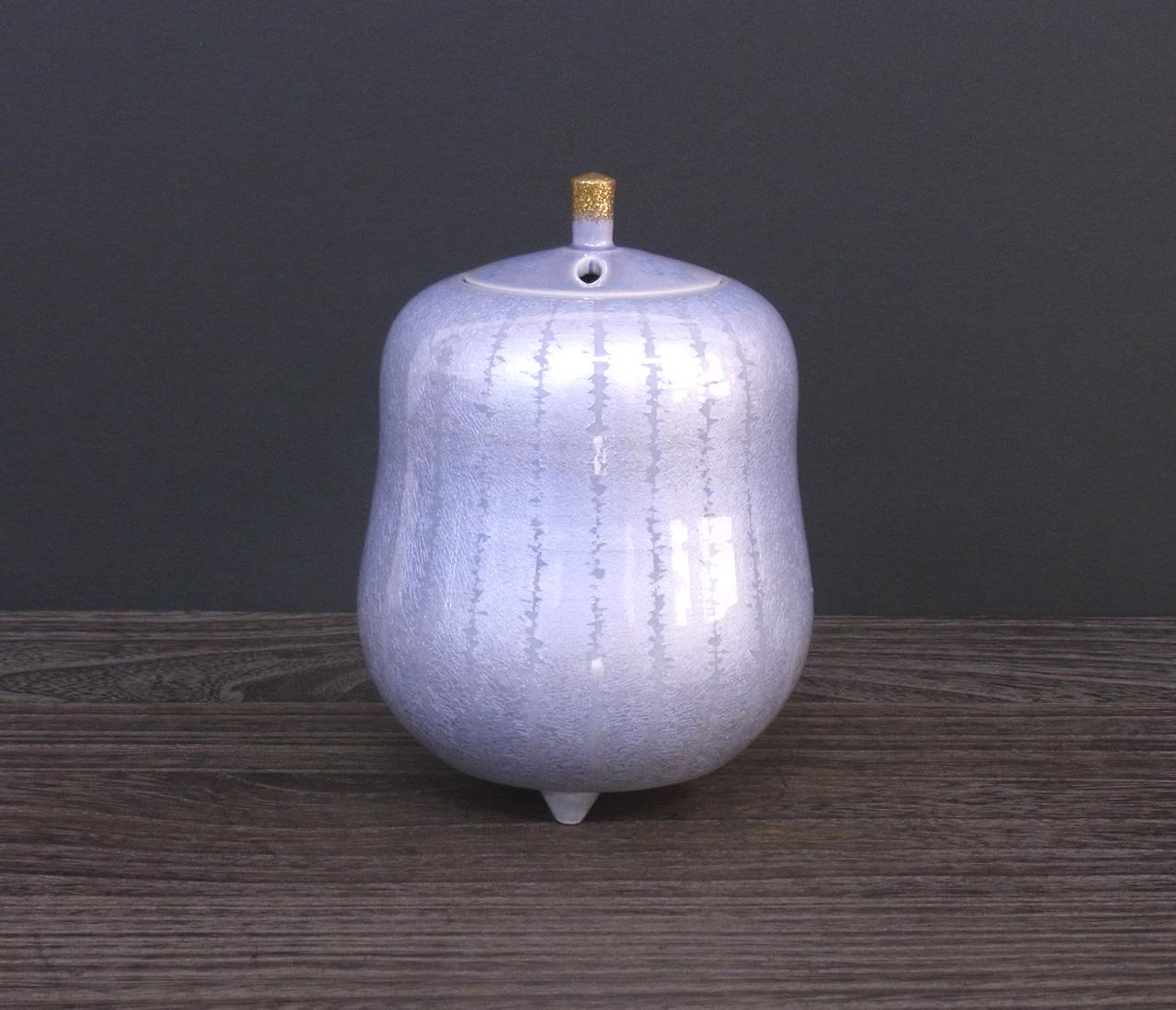 香炉 紫苑釉裏銀彩 [ 中田一於 ]