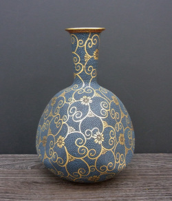 花瓶(9号鶴首) 本金青粒 [ 小酒洸仙 ]