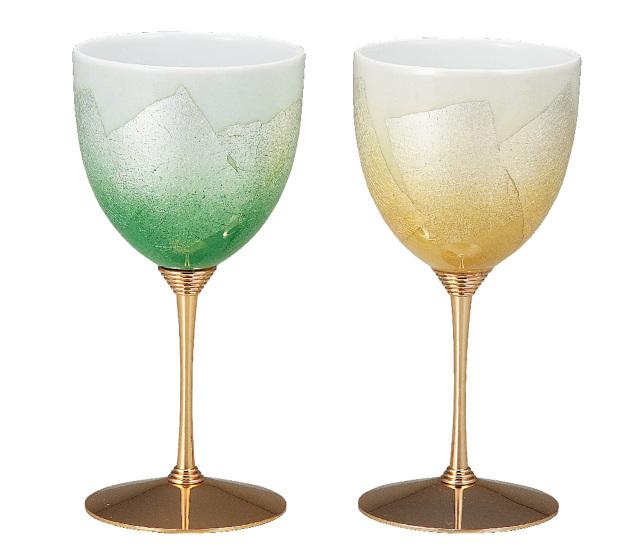 ペアワインカップ 銀彩