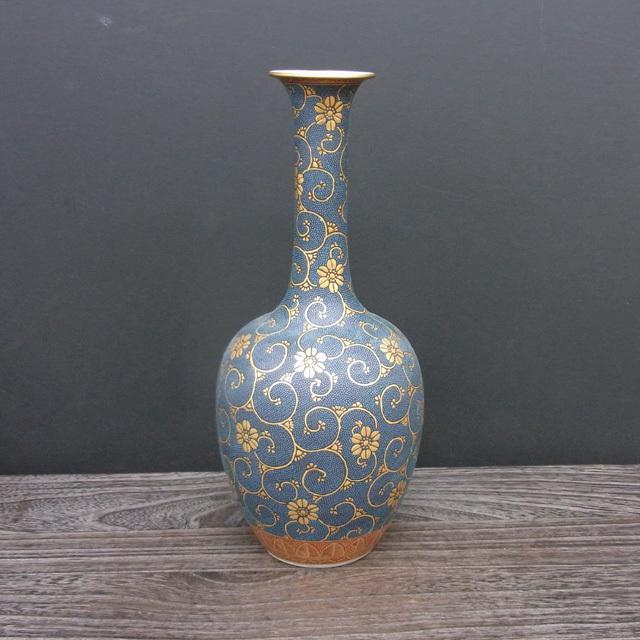 9号花瓶(鶴首) 極上青粒 [ 林伊平 ]