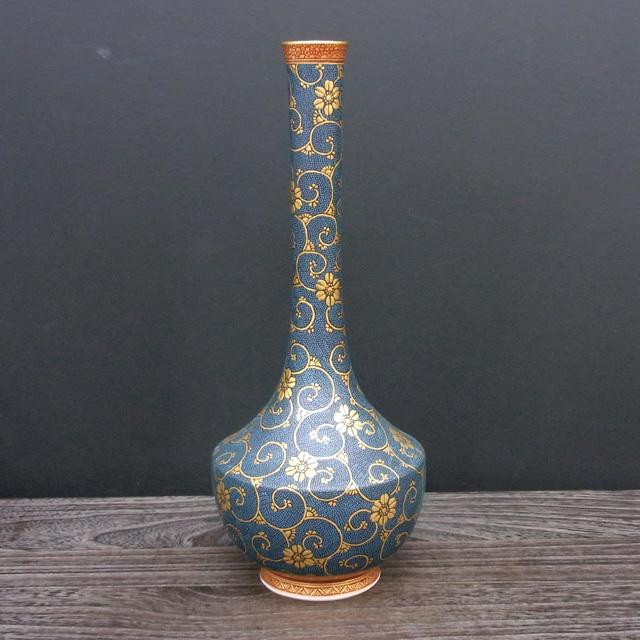 10号花瓶(鶴首) 極上青粒 [ 林伊平 ]