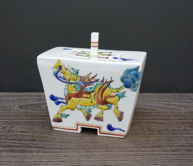 香炉(角タタラ) 雲獣麒麟の図 [ 山近泰 ]