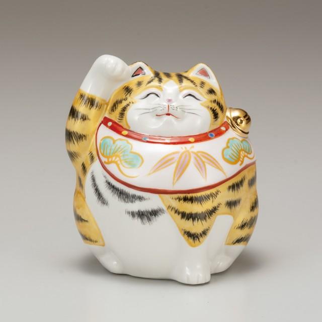 九谷焼 4号福々招猫 金彩(右手上げ)