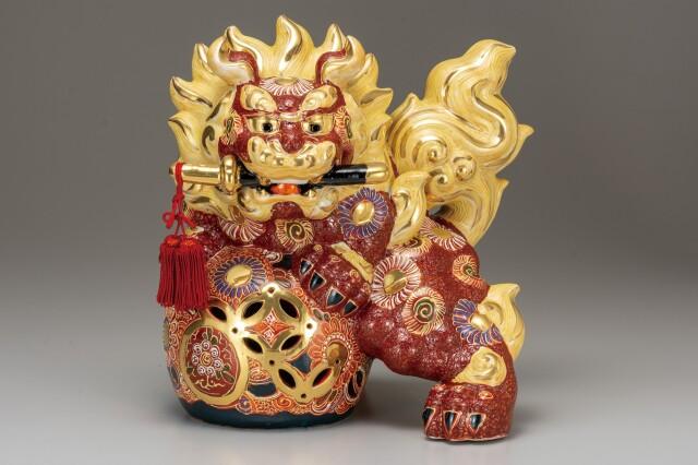 九谷焼 10号剣獅子 盛