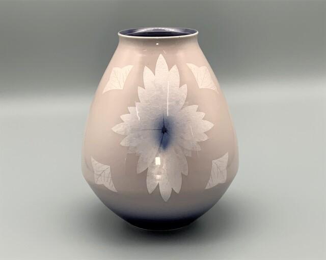 花瓶(7号) 淡桜釉裏銀彩 [ 中田一於 ]