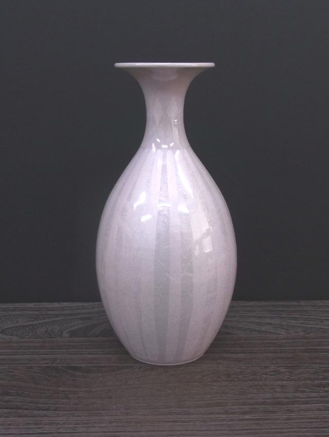 花瓶(8号) 淡桜釉裏銀彩 [ 中田一於 ]