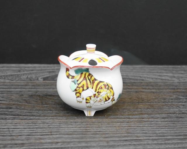 豆香炉 虎の図 [ 山近泰 ]5-1453