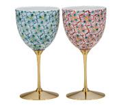 ペアワインカップ 花紋