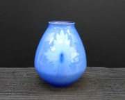 花瓶(7号) 淡青釉裏銀彩 [ 中田一於 ]