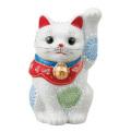九谷焼 3.2号招猫 白盛