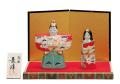 九谷焼 3.8号雛人形 赤松竹梅 [ 長峰窯 ]