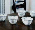 5個組小鉢揃(3号) 染彩菱小紋 [ 九谷焼 夏器 ]