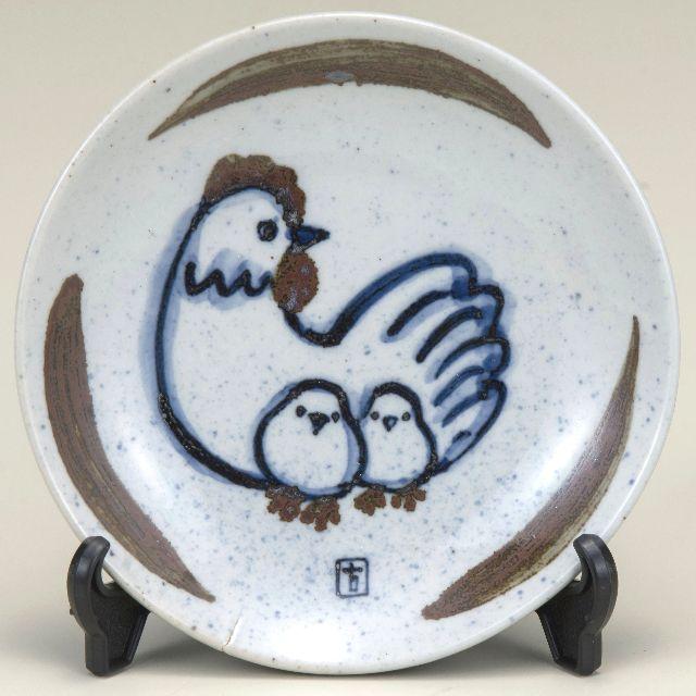 縁起干支 丁酉 4.5号飾皿 とり 古青窯