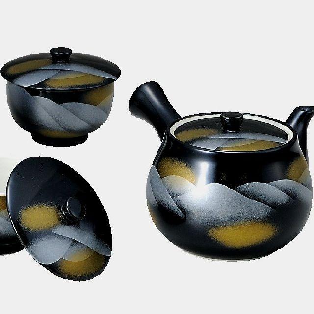 【送料無料】九谷焼ギフト ご贈答品 御祝い 九谷焼蓋付茶器 連山