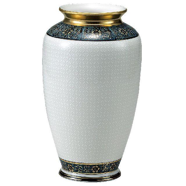 九谷焼ギフト ご贈答品 御祝い 九谷焼8号花瓶 白七宝