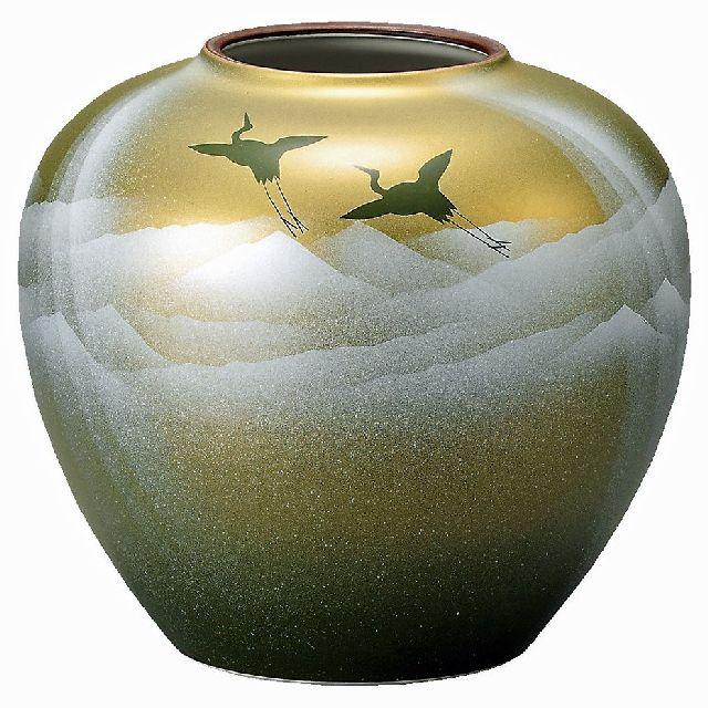 九谷焼ギフト ご贈答品 御祝い 九谷焼7号花瓶 銀彩山