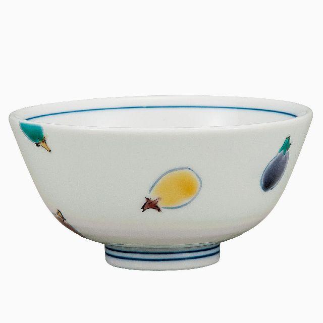 九谷焼ギフト ご贈答品 御祝い 九谷焼飯碗 色なす