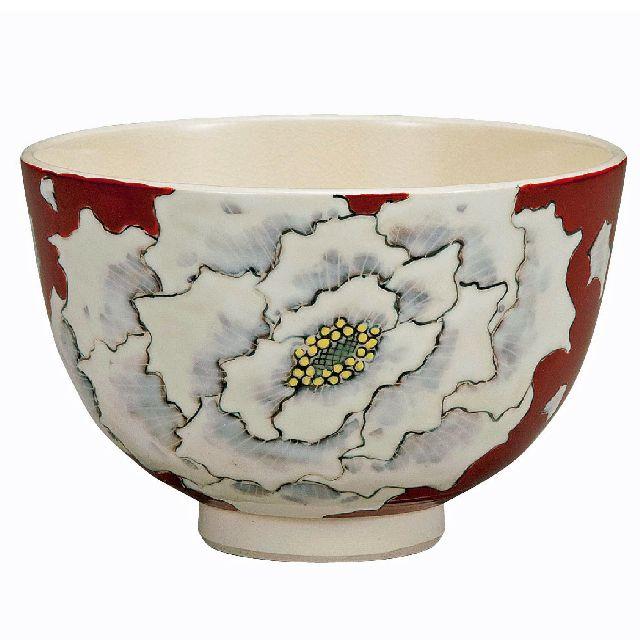 九谷焼高級ギフト ご贈答品 御祝い九谷焼抹茶碗 牡丹