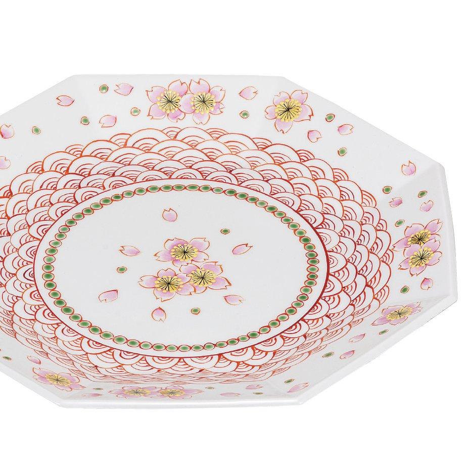 九谷焼ギフト ご贈答品 御祝い 九谷焼8.5号盛皿 赤絵桜
