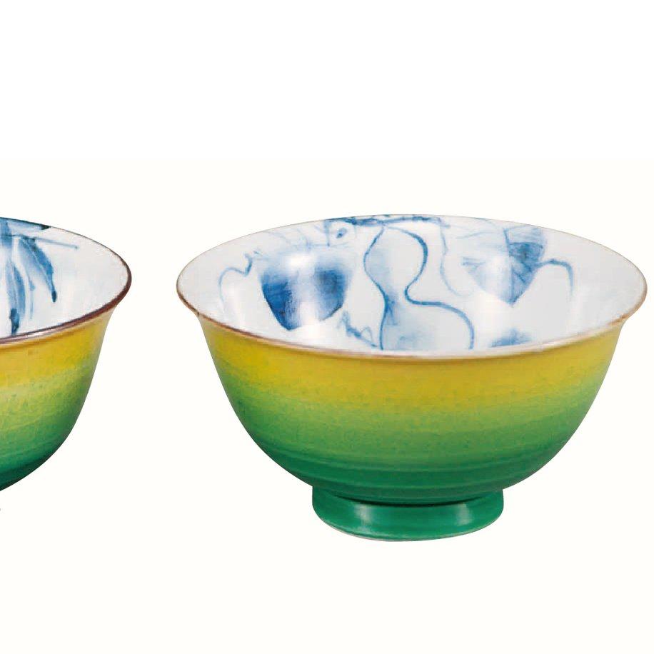 九谷焼ギフト ご贈答品 御祝い 九谷焼組飯碗 釉彩染付