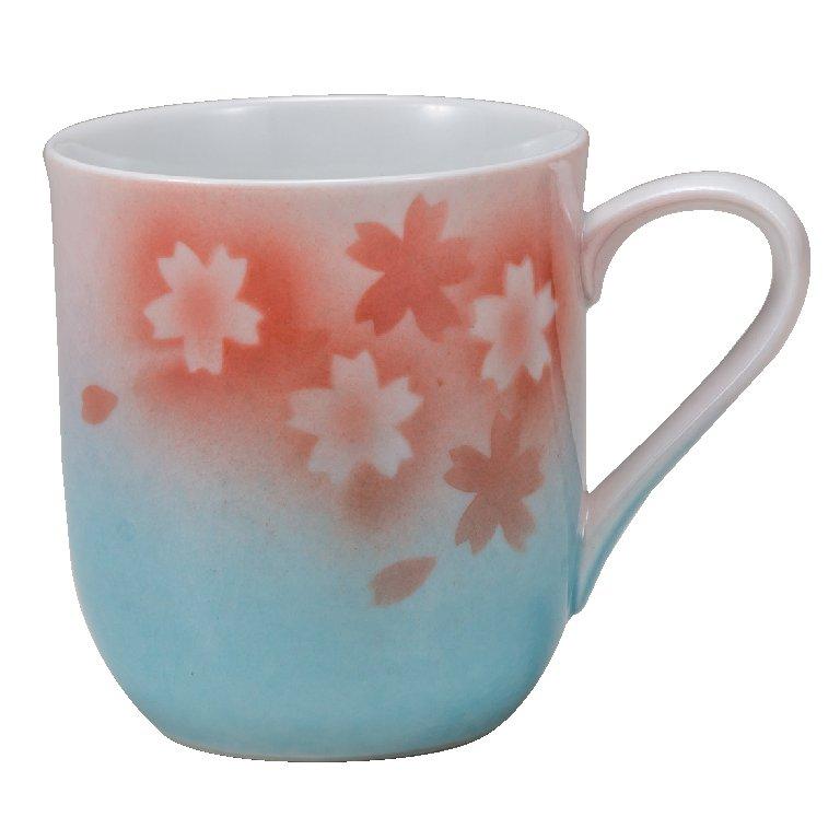 九谷焼ギフト ご贈答品 御祝い 九谷焼マグカップ 桜