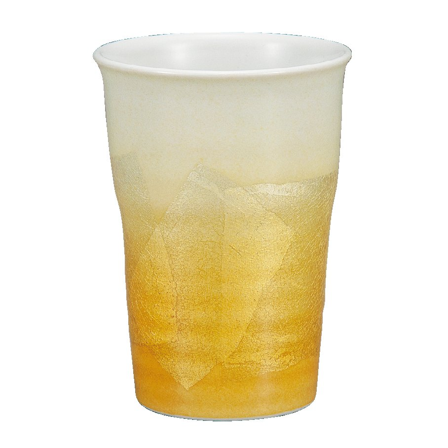 九谷焼ギフト ご贈答品 御祝い 九谷焼フリーカップ 銀彩黄