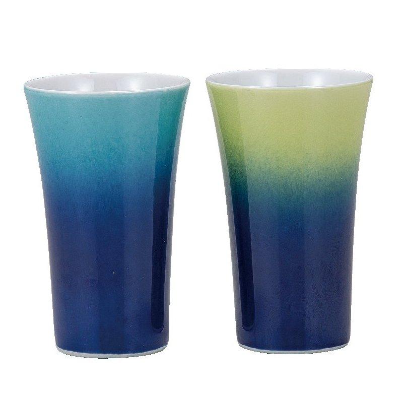 九谷焼ギフト ご贈答品 御祝い 九谷焼ペアフリーカップ 釉彩