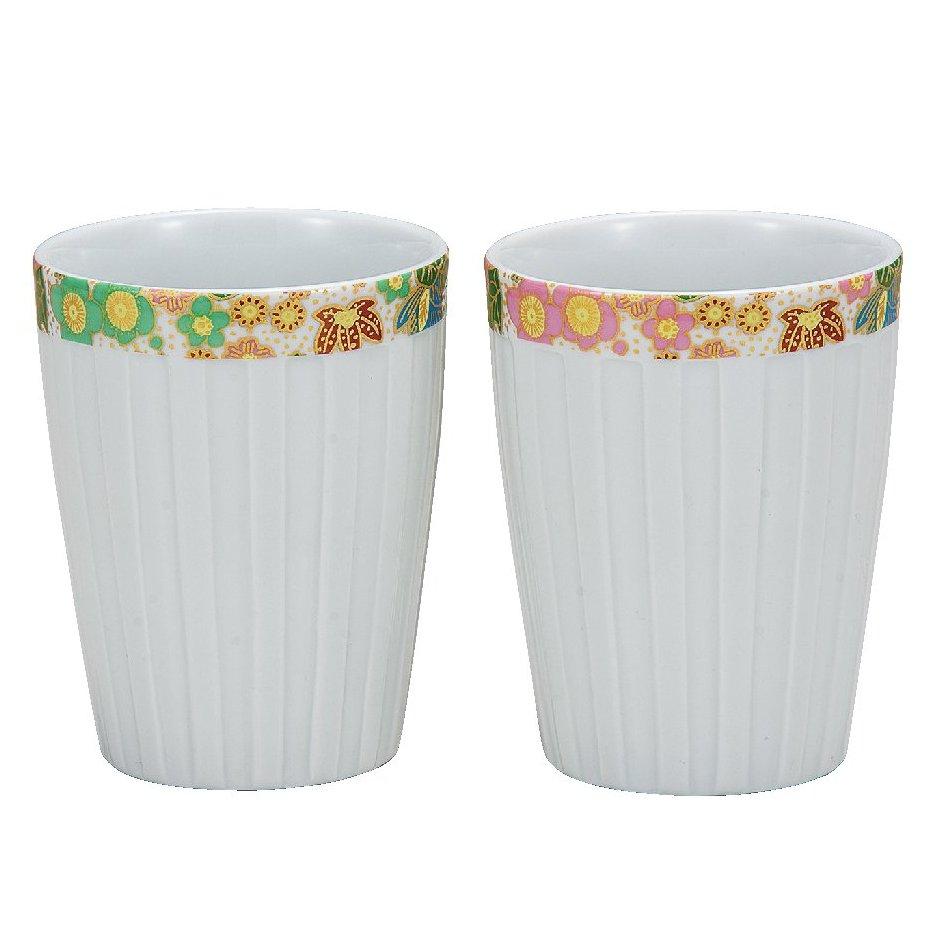 九谷焼ギフト ご贈答品 御祝い 九谷焼ペアフリーカップ 花詰