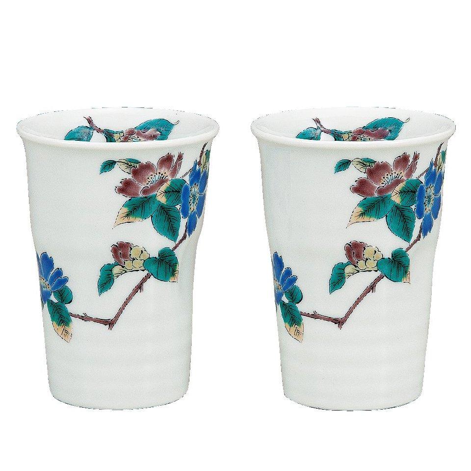 九谷焼ギフト ご贈答品 御祝い 九谷焼ペアフリーカップ 山茶花