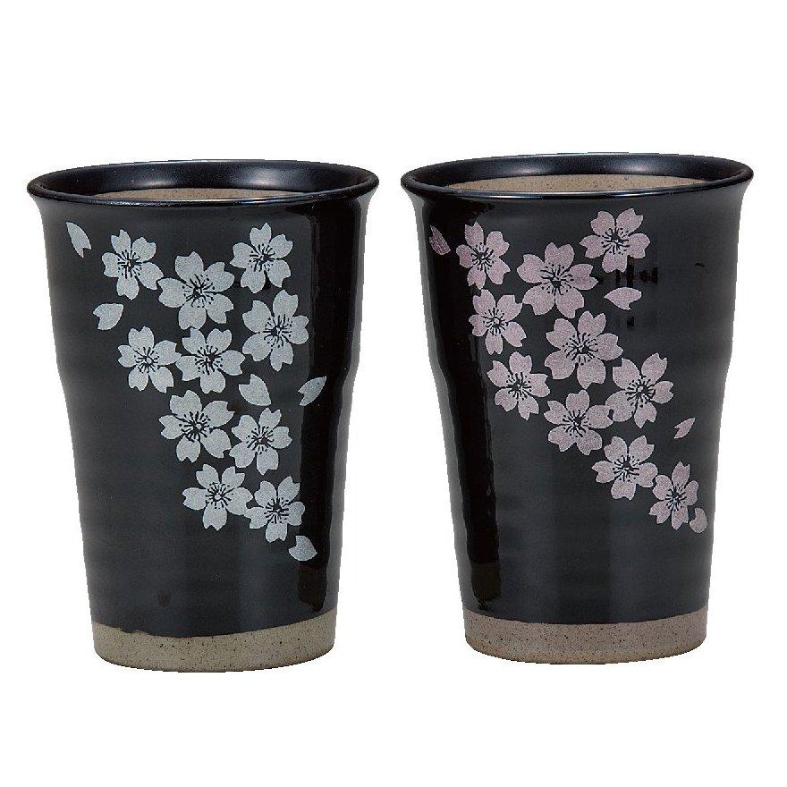 九谷焼ギフト ご贈答品 御祝い 九谷焼ペアフリーカップ 釉彩桜