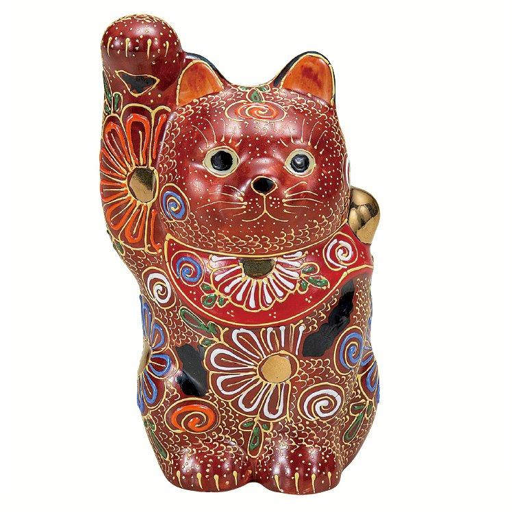 九谷焼ギフト ご贈答品 御祝い 九谷焼4号招き猫 盛